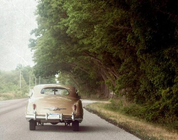 Fine Art Photo, 8x10, 16x20, Classic Retro Car, Summer, Road Trip, Wall Art, Vintage Look Photography print