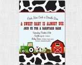 Barn Yard Baby Shower Invite