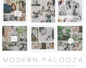 INSTANT DOWNLOAD  Modern Palooza Blog, Facebook and Instagram Collage Templates vol 3