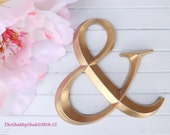 Ampersand Sign / Gold / Large Wall Ampersand / Photo Prop / Wedding Decor / Wall Decor / Shabby Chic Decor