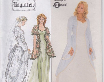 Historical Period Wedding Dress Pattern  Size 6 - 10 uncut 1996 Simplicity 8623 Bridal Gown