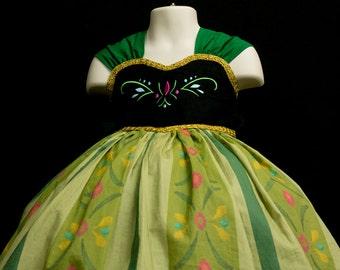 Princess Anna Coronation Dress Deluxe Set - Frozen Princess Anna Costume - Princess Anna Dress - Frozen Costume - toddler girls Disney dress