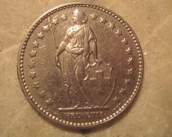 Switzerland, 1978, 1 Franken Coin with 22 stars