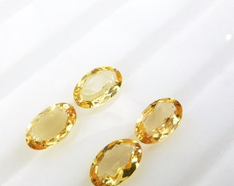 TOPAZ. Natural Precious / Imperial Topaz. Very CLEaN. Bright. Oval. MAtCHED PAirs. 4 pc. 2.20 cts. 4x6x3 mm  (Bt383)