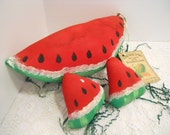 Watermelon Soft Sculpture, Set of 3