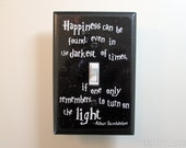 Light Switch Plate Dumbledore Quote Happiness Can Be Found Switchplate, Geeky Gift for Wizards