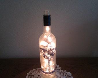 Three O Rangtang Three Olives Vodka Frosted Bottle Light, Man Cave Decor, 21st Birthday, Bar Light