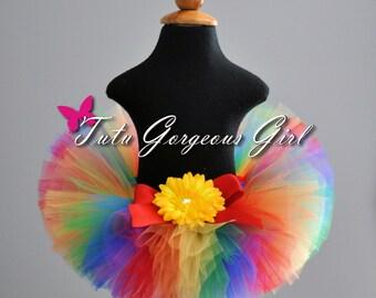 Rainbow Birthday Tutu...Circus Clown Tutu, Cake Smash Rainbow Tutu...Newborn to Adult Sizes . . . RAINBOW FUN