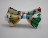 Twill Dinosaur Toss on Cream Clip on Bow Tie - Infant, Toddler, and Boys