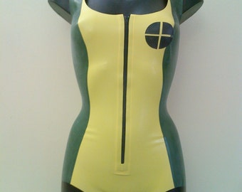 Rubber Latex Rogue Inspired Bodysuit