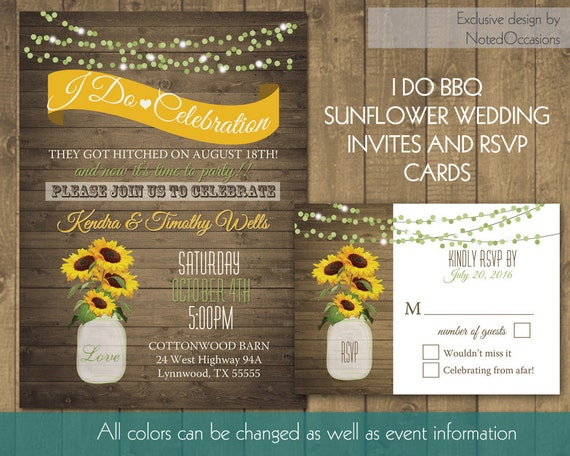 i do bbq wedding reception invitation printable by. Black Bedroom Furniture Sets. Home Design Ideas