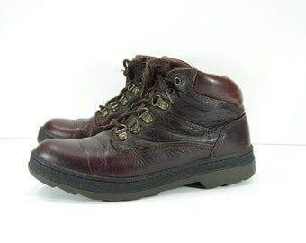 timberland hiking boots womens 8.5 m b brown trail ankle granny leather combat