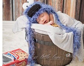 Newborn Cookie Monster Hat
