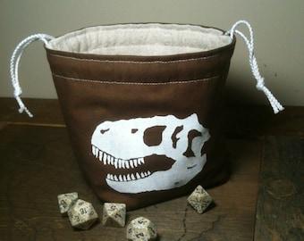 Tyrannosaur Skull Dice Bag