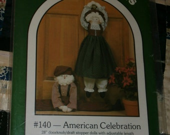 Vintage Dream Spinners Pattern #140 for American Celebration Draft Stopper Doll, Uncut