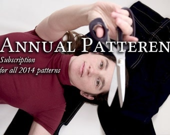 Annual Pattern Subscription for 2014 sewing patterns made by Tutorial Girl