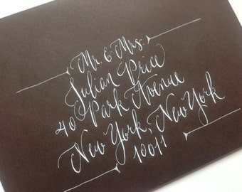 Envelope Calligraphy--Holly Style