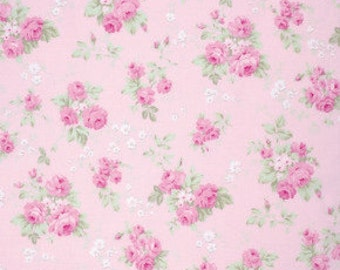 Tanya Whelan Cotton Fabric Wild Roses Slipper Roses Wild Roses in Pink