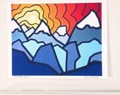 "The Ridge, Glacier National Park 8"" x 10"" Fine Art Print --Buy Any 2 Prints & Get a 3rd FREE--"