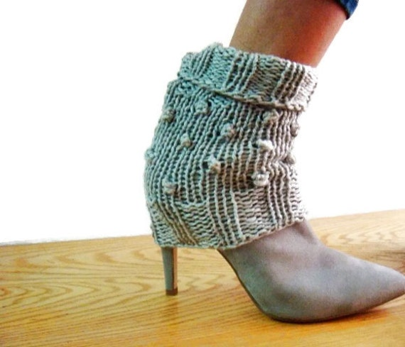Knit Spats Pattern, Leg Warmers Knitting Pattern, Ankle Cuffs Pattern, Knit Boot Cuffs Pattern