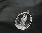 Custom Engraving Service Sterling Silver Bronze Pendant Necklace Handmade Artwork Fine Jewelry Men Unisex Made to order Bulk order discounts