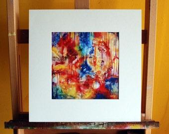 "16"" x 16"" She Made Rainbows Print"