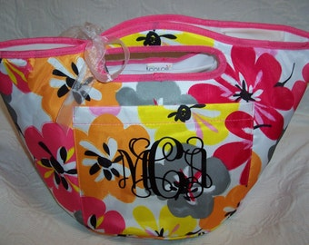 Personalized Floral Insulated COOLER Tote Gift Wrapped!