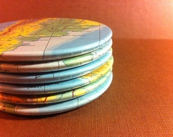 The Americas Vintage Map Coasters (Set of 6)