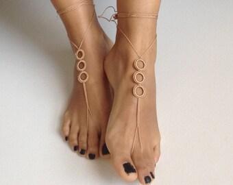Barefoot Sandals, brown,  wedding, Bikini, Women, Beach, Bridal Shoes, Bridal Sandals, Bridal Jewelry, shoes, READY TO SHIP