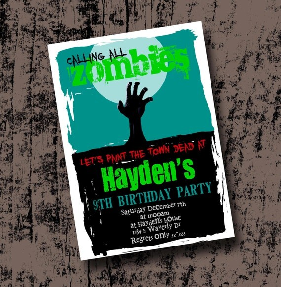 printable zombie invitations pictures to pin on   pinsdaddy, party invitations
