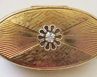 Vintage collectible compact mid century Max Factor lipstick mirror compact