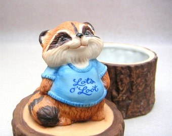 Rick Raccoon Vintage Trinket Box Shirt Tales Hallmark