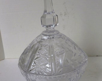 Cut Crystal Domed Candy Dish