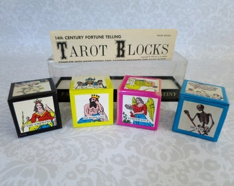 Vintage 70s Tarot Block Game Very Rare  /  Tarot Card Game by S.R. Kaplan  /  Fortune Teller Divination Game