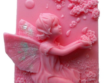 FAIRY SOAP Falling Flower Petals Handmade Handcrafted 4 oz U Pick Scent & Color