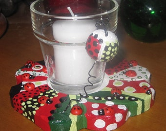 Ladybug Ladybug Fly Away Home! Candle Holder