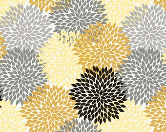 ANDREA  FLOWERS GOLD c3351 -  Andrea Victoria Cottons - My Mind's Eye - Riley Blake Designs - By the Yard