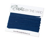 NAVY Skinny Elastic for Baby Headbands 1/8 inch - 5 yards