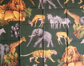 Fabric Destash - Out of Africa Applique Panel by Springmaid Fabrics