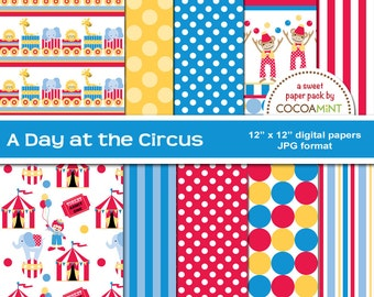 A Day at the Circus Digital Papers