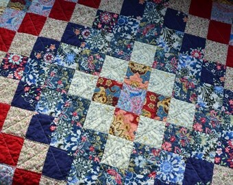 Bohemian Quilted Picnic Blanket, Waterproof Backing, Trip Around the World