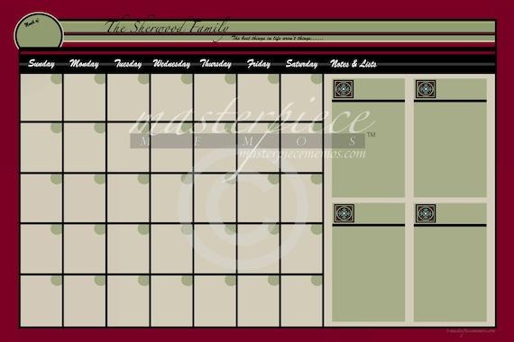 Extra Large Dry Erase Calendar | Search Results | Calendar 2015