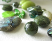 Upcycled Supplies - Bead Mixed Lot - Go Green