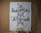 Historical  Game -  Gluckhaus -  in Blackwork Embroidery