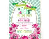 Derby Bridal Shower Invitations in Pink
