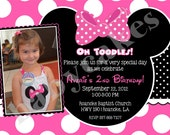 Minnie Mouse Invitation - DIY Print Your Own - Matching Party Printables Available
