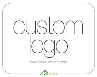 Custom Logo Design - Digital Files for Web and Print - Revisions