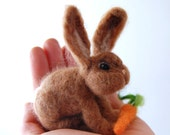 Needle Felted Bunnies . Bunny Rabbits. Needle Felted Rabbit. Natural Toys For Children. Childrens Toys. Felted Toy. Gift For Child.