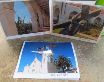California Missions San Luis Rey Photo cards (Blank inside)