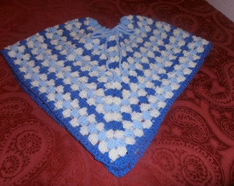 crochet child's poncho, school days